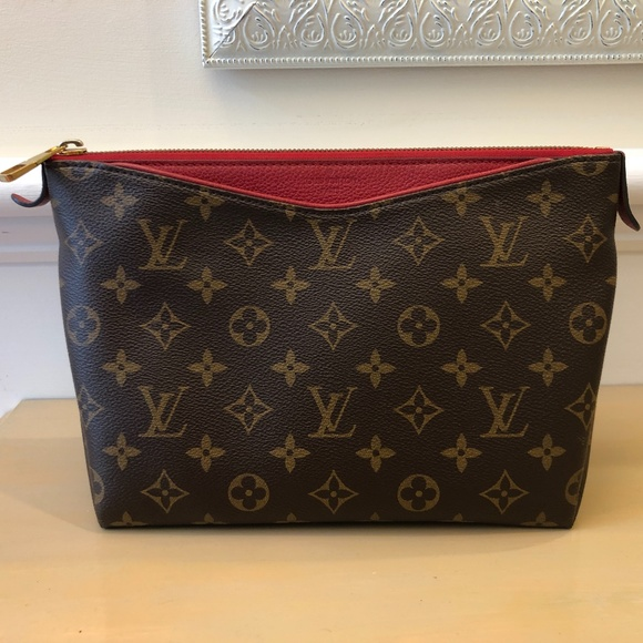 Louis Vuitton Handbags - Louis Vuitton Pallas Brown and Red Clutch